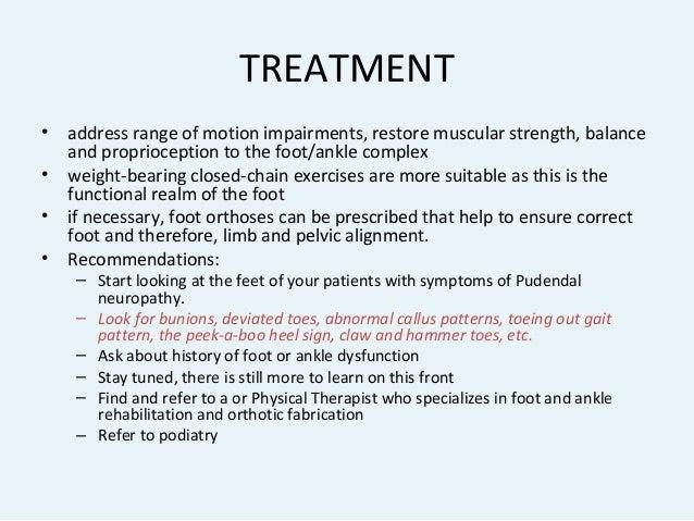 Pudendal Neuralgia and Lower Extremity (Feet) Biomechanics ...