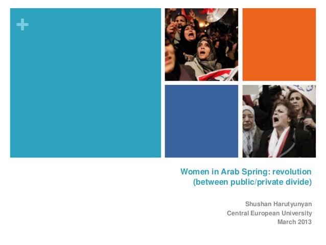 +    Women in Arab Spring: revolution      (between public/private divide)                    Shushan Harutyunyan         ...