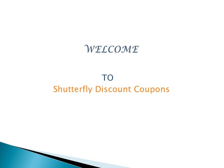 TOShutterfly Discount Coupons
