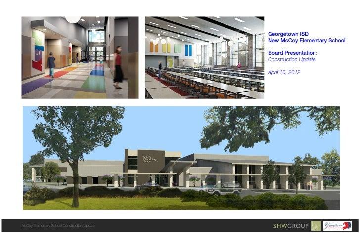 SHW Construction Update - April 2012