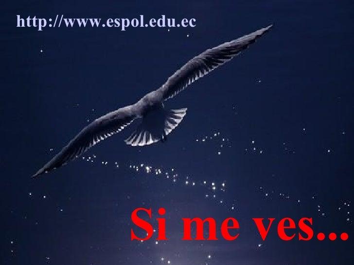 Si me ves... http :// www.espol.edu.ec