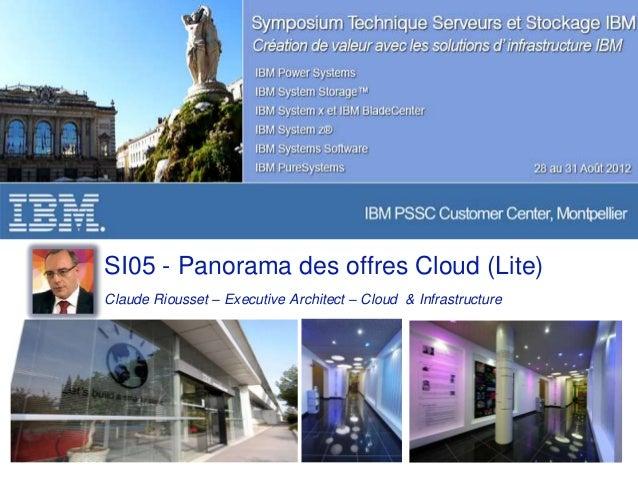 Panorama des offres cloud IBM