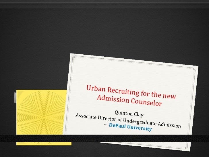Urban Recru                iting for the       Admission C            new                    ounselor                  Qui...