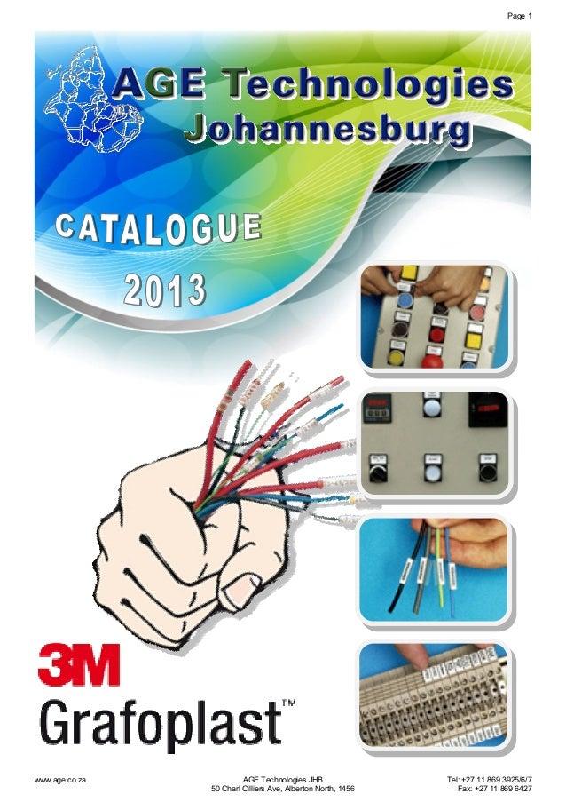Page 1  www.age.co.za  AGE Technologies JHB 50 Charl Cilliers Ave, Alberton North, 1456  Tel: +27 11 869 3925/6/7 Fax: +27...