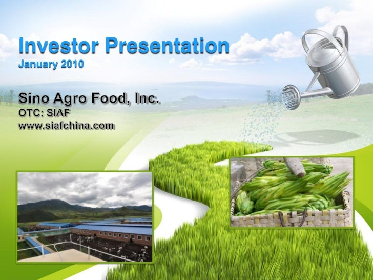 SIAF Investor Presentation