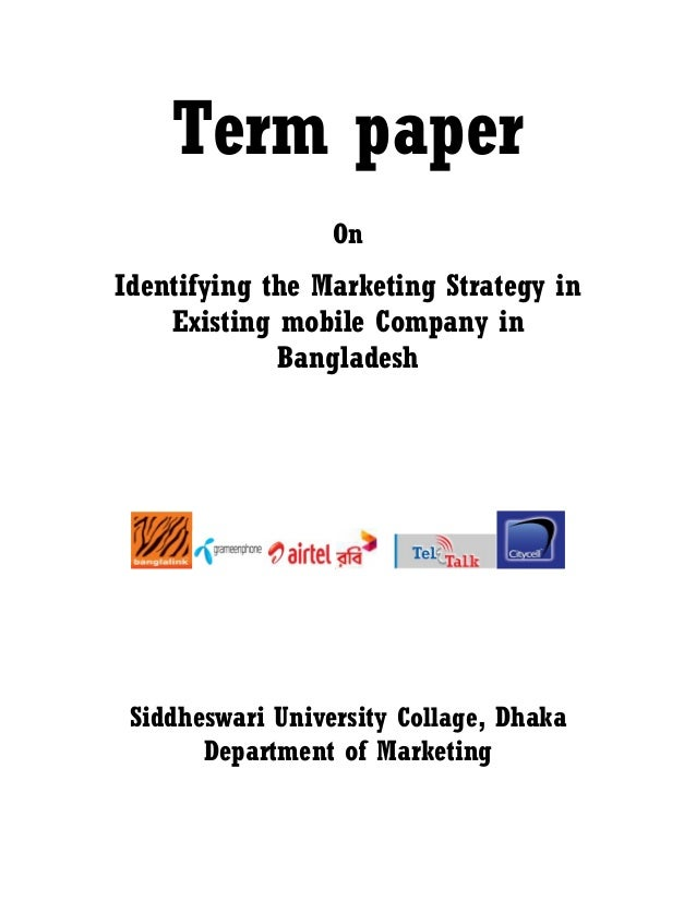 Term paper in marketing