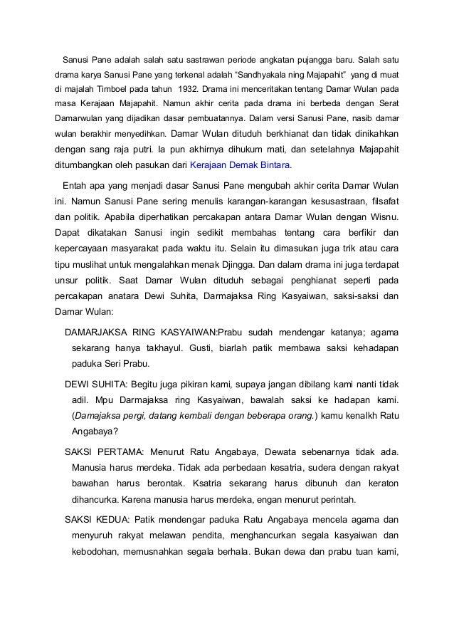 Sanusi Pane adalah salah satu sastrawan periode angkatan pujangga baru. Salah satudrama karya Sanusi Pane yang terkenal ad...