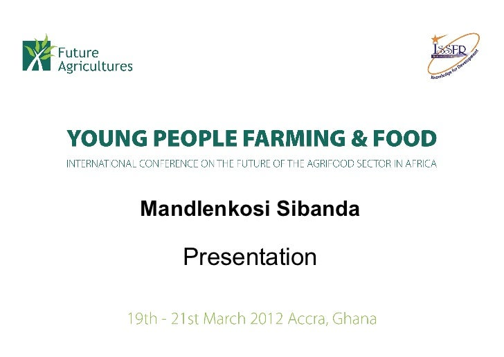 Mandlenkosi Sibanda   Presentation