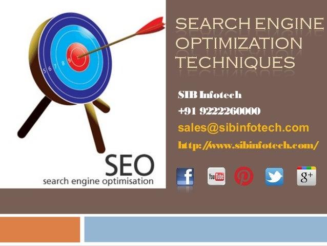 SIBInfotech +91 9222260000 sales@sibinfotech.com http://www.sibinfotech.com/