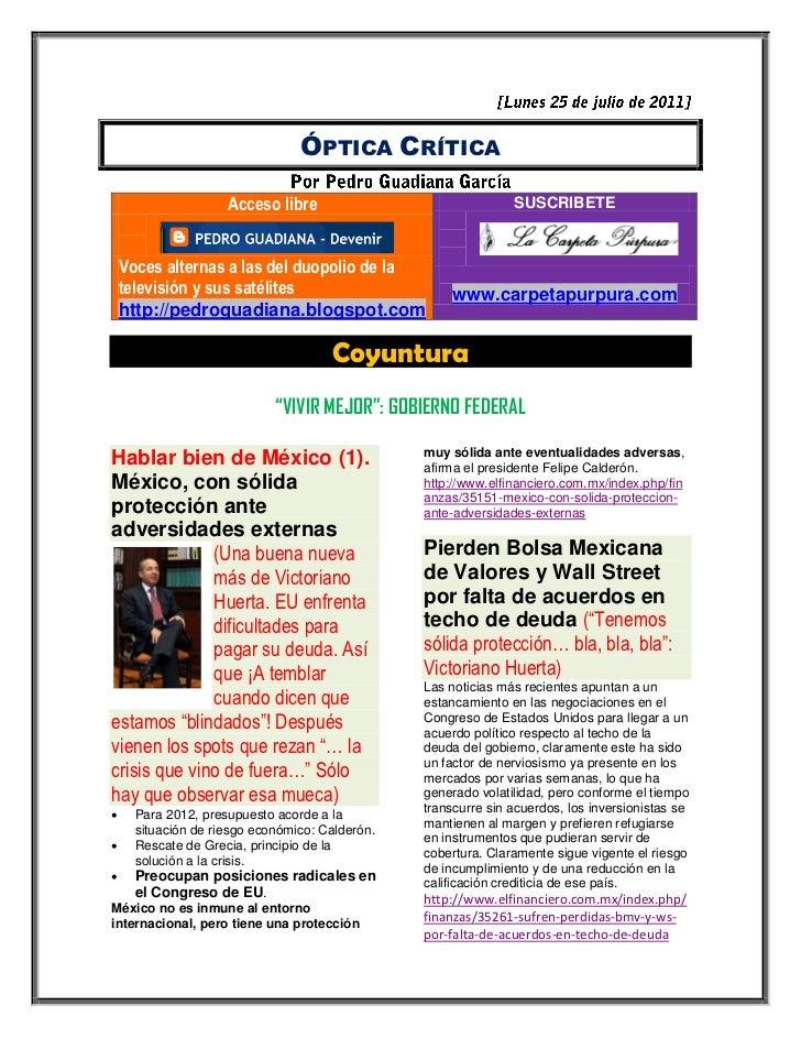 ÓPTICA CRÍTICA                     Acceso libre                               SUSCRIBETE    Voces alternas a las del duopo...