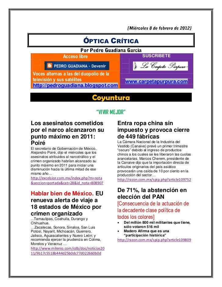 ÓPTICA CRÍTICA                    Acceso libre                                      SUSCRIBETE Voces alternas a las del du...