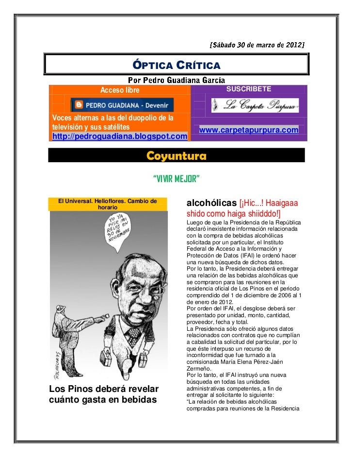 ÓPTICA CRÍTICA                Acceso libre                                SUSCRIBETEVoces alternas a las del duopolio de l...