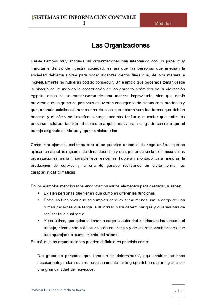 [SISTEMAS DE INFORMACIÓN CONTABLE                  1                                                     ModuloI         ...