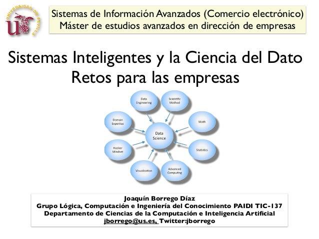 Sistemas de Información Avanzados (Comercio electrónico)          Máster de estudios avanzados en dirección de empresasSis...