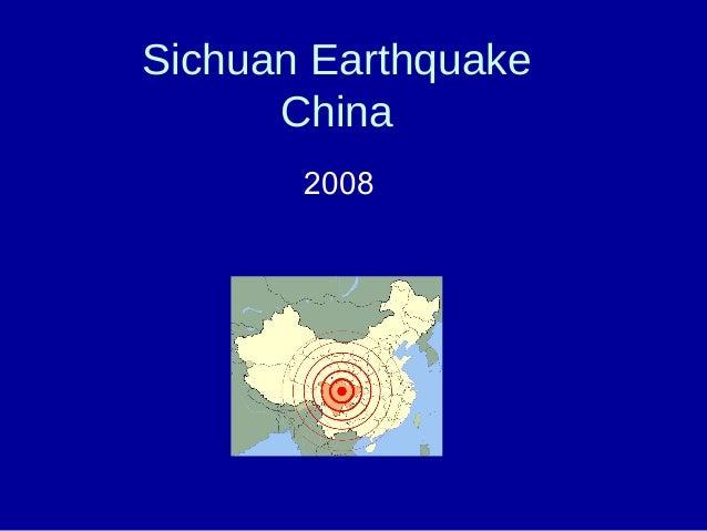 Sichuan Earthquake China 2008