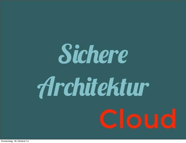 Sichere Webarchitekturen in der Cloud