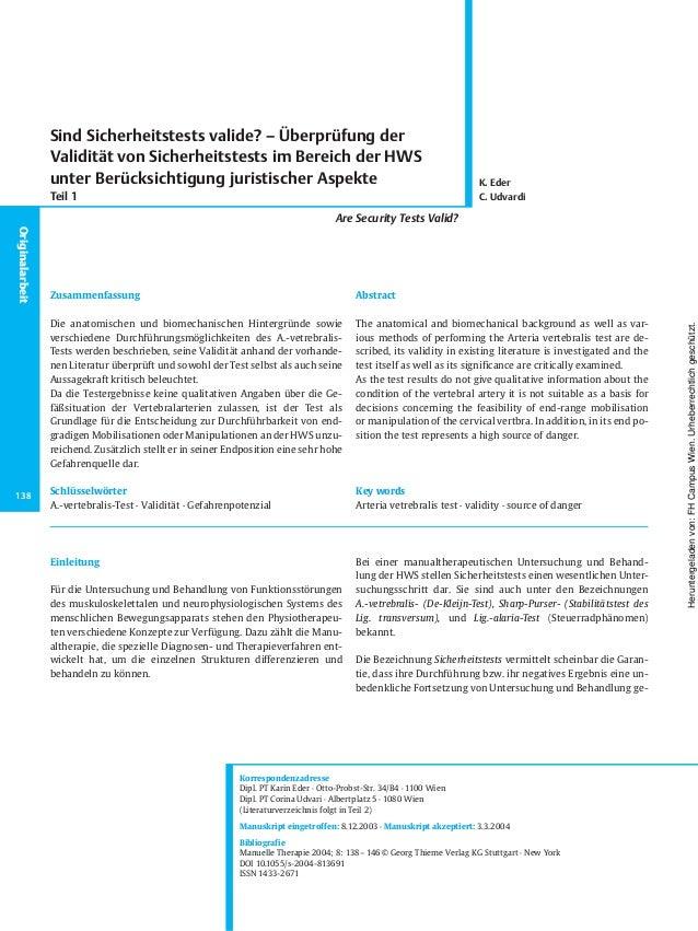 Einleitung Für die Untersuchung und Behandlung von Funktionsstörungen des muskuloskelettalen und neurophysiologischen Syst...