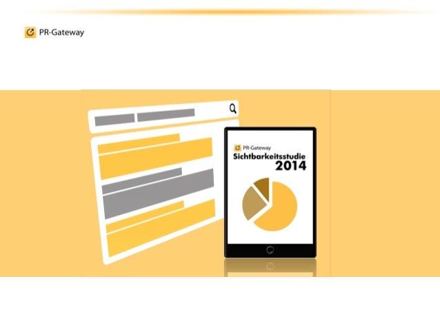 Sichtbar im Internet mit Online-Pressemitteilungen: Sichtbarkeitsstudie2014