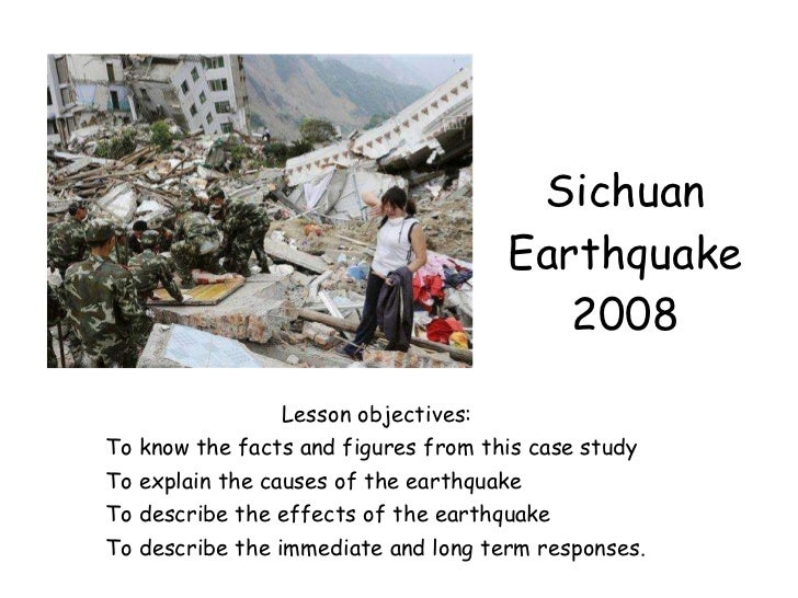 Essay About Earthquakes