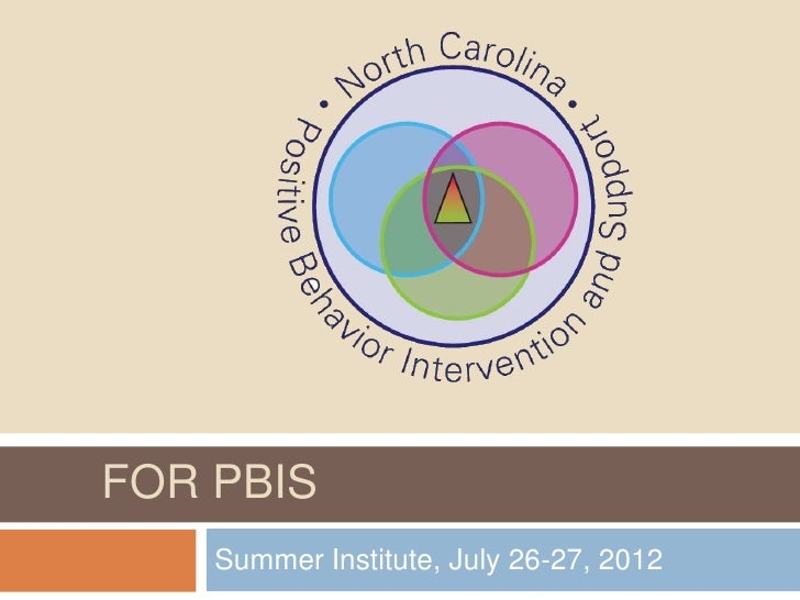 LEADERSHIP & COACHINGFOR PBIS   Summer Institute, July 26-27, 2012