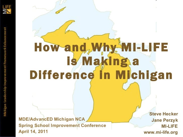 MI-LIFE School Improvement Conference Preso