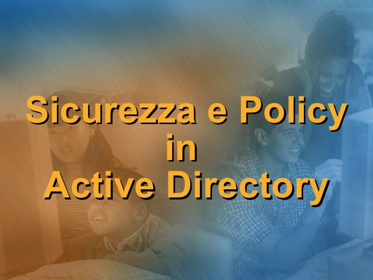 Sicurezza E Policy