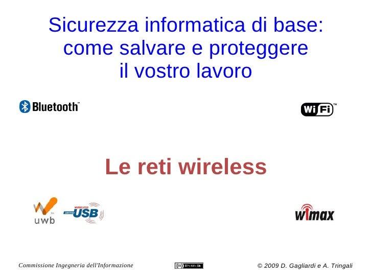 Sicurezza -  Reti Wireless