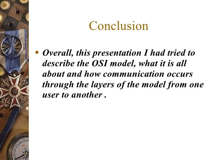 Overall conclusion