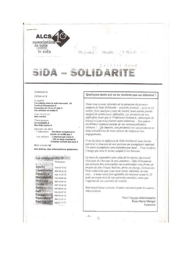 Sida Solidarité Magazine N°2