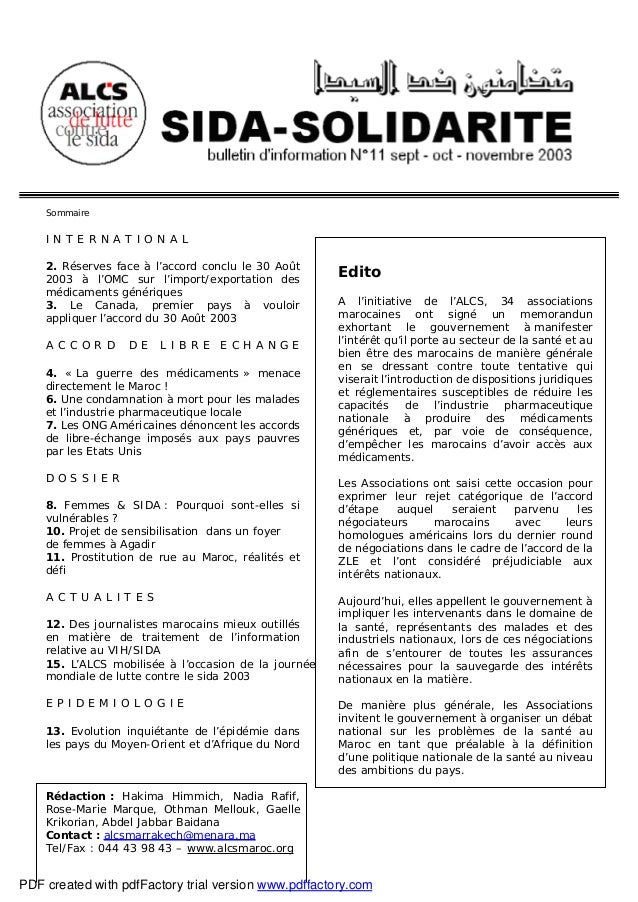 Sida Solidarité Magazine n°11
