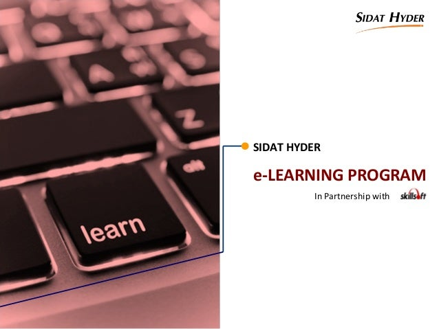 SIDAT HYDERe-LEARNING PROGRAMIn Partnership with