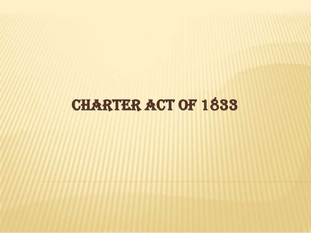CHARTER ACT OF 1833