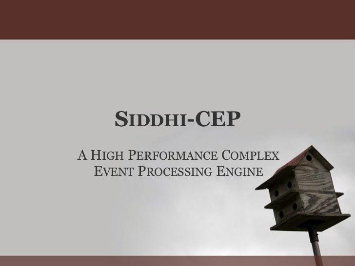 Siddhi CEP 2nd sideshow presentation