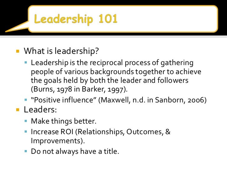 What is the leadership