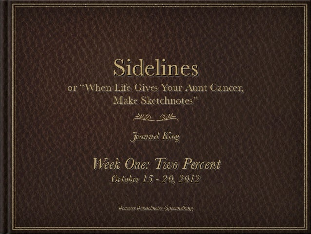 """Week 01: """"Two Percent"""" - Sidelines, or """"When Life Gives Your Aunt Cancer, Make Sketchnotes"""""""