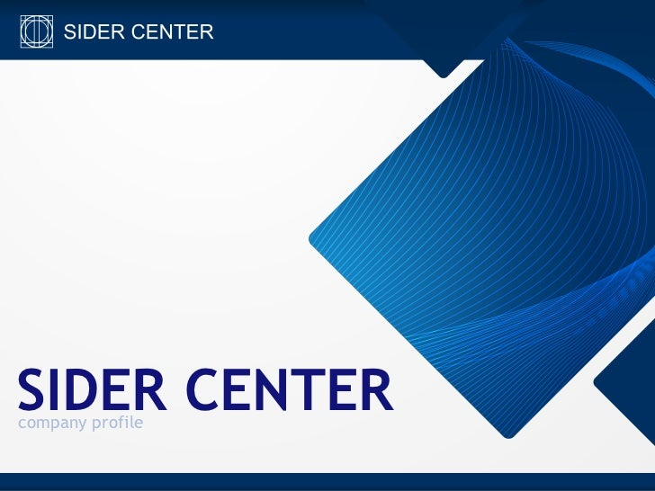 Sidercenter company profile english