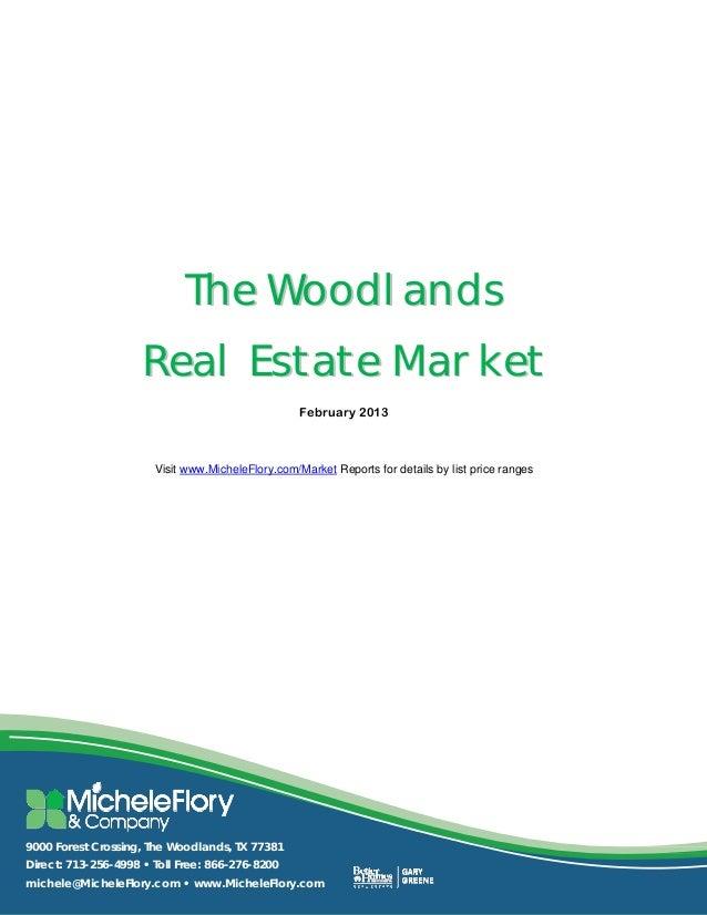 The Woodlands                         Real Estate Market     ...