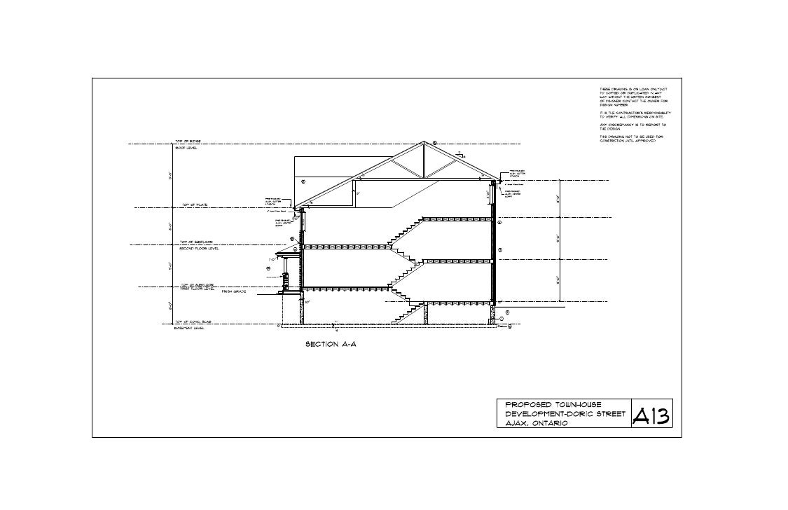 Side view plan