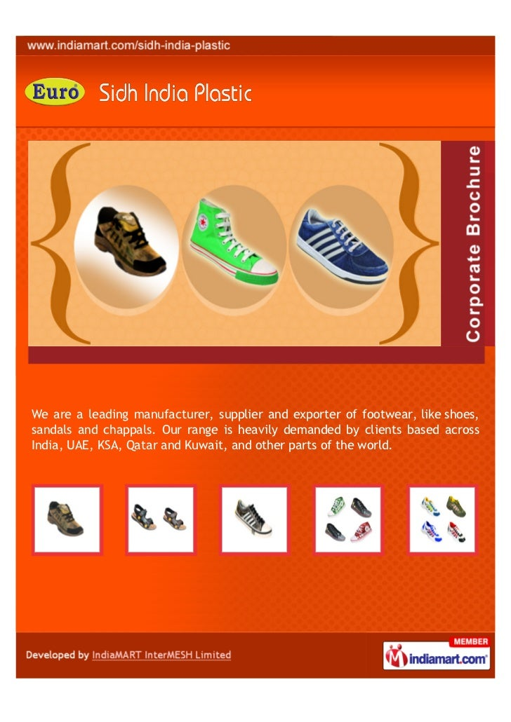 We are a leading manufacturer, supplier and exporter of footwear, like shoes,sandals and chappals. Our range is heavily de...