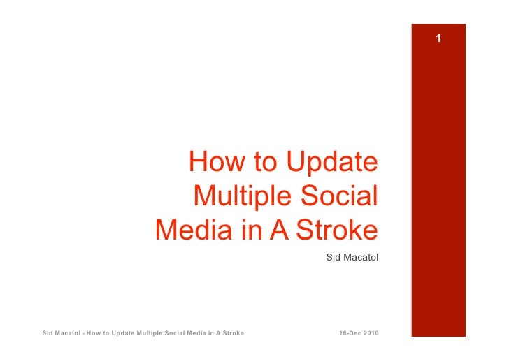 How to Update Multiple Social Media in a Stroke