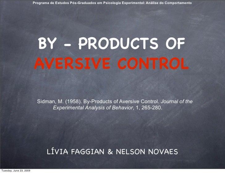 Programa de Estudos Pós-Graduados em Psicologia Experimental: Análise do Comportamento                              BY - P...