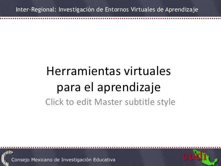 Herramientas virtuales  para el aprendizaje