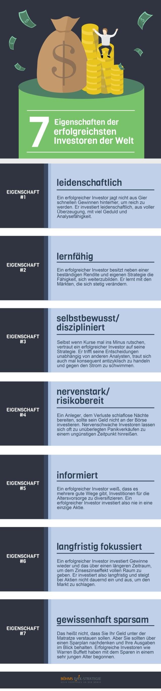 Sieben Eigenschaften der erfolgreichsten Investoren der Welt - Böhms Dax-Strategie