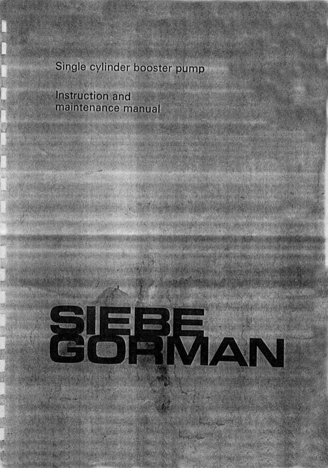 Siebe Gorman Oxygen Pump Manual