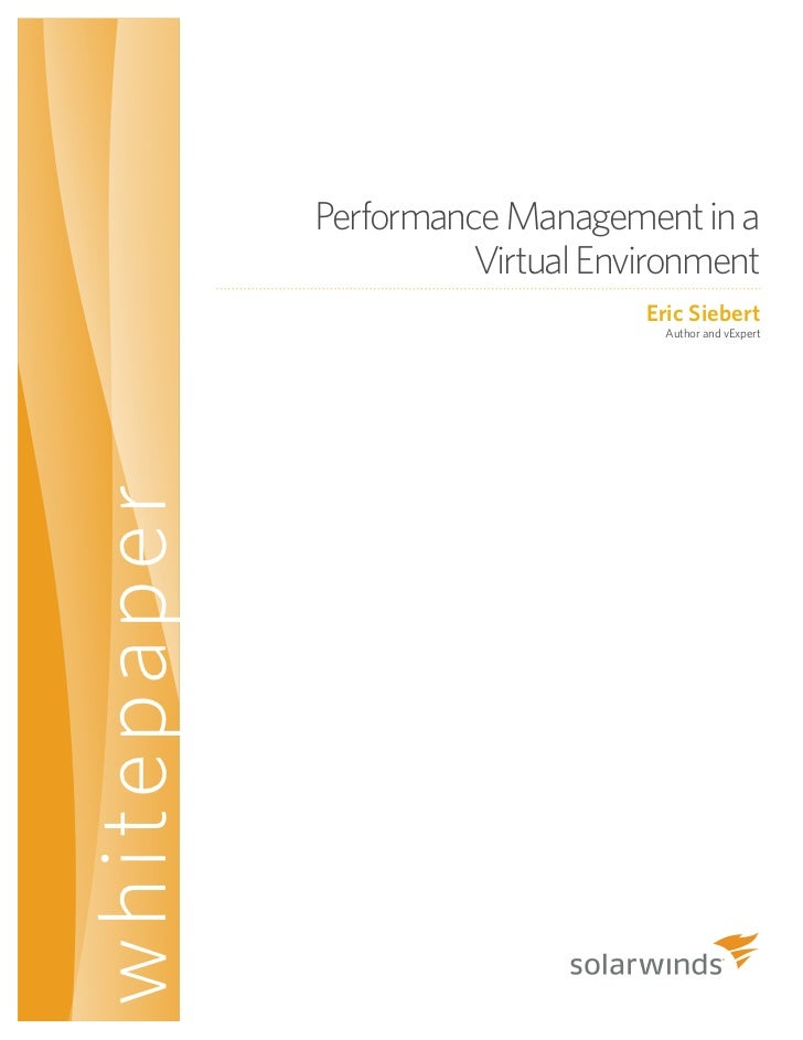 Performance Management in a Virtual Environment by Eric Siebert