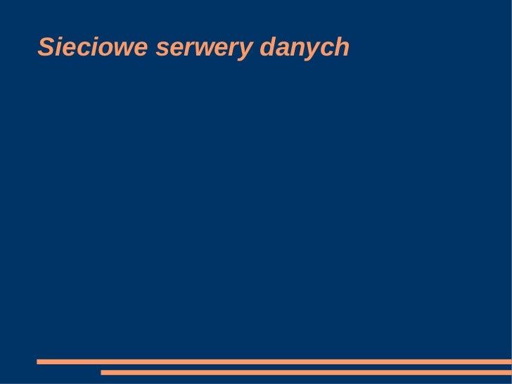 Sieciowe serwery danych
