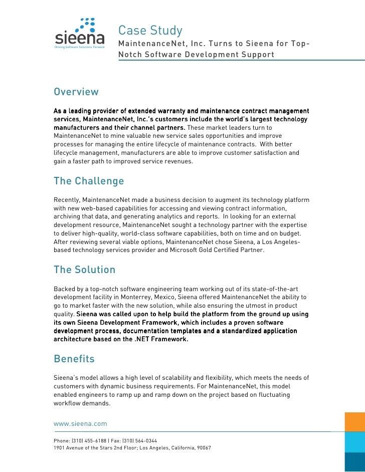Sieena - Case Study - MaintenanceNet Inc