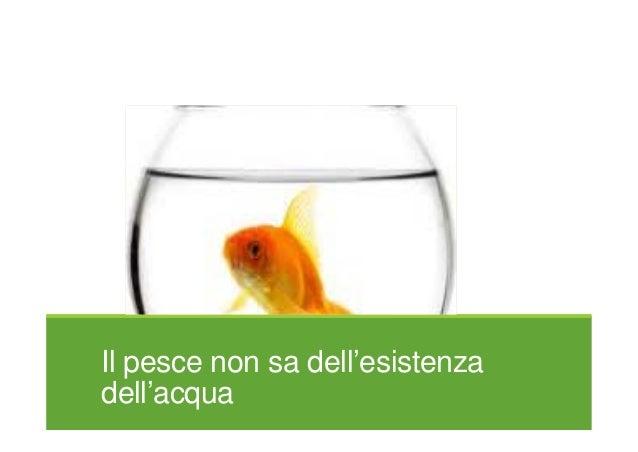 Il pesce non sa dell'esistenza dell'acqua
