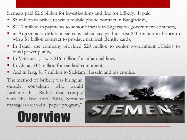 case analysis the bribery scandal at