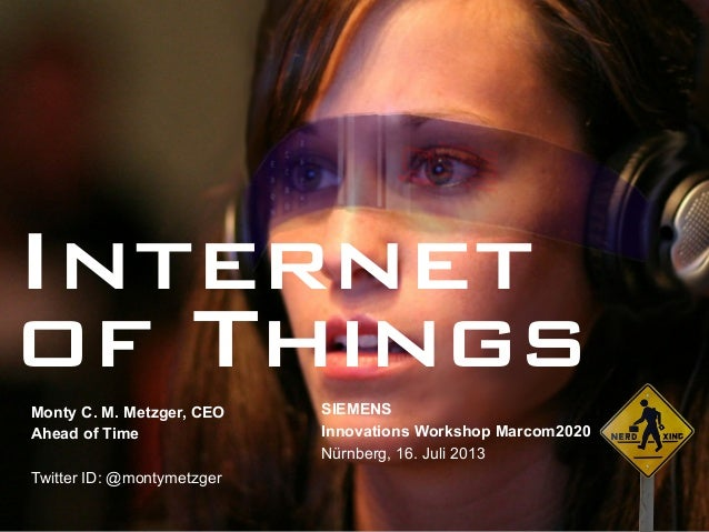 The Internet of Things: Sensors, Smart Objects & Quantified Self